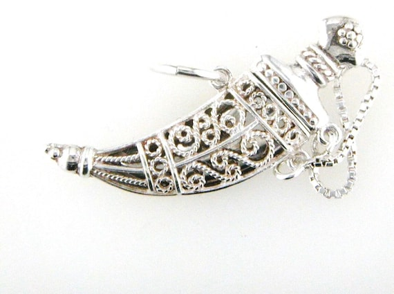 Sword & Scabbard Charm Pendant Sterling Silver 925