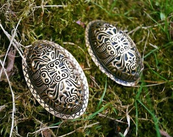 Viking brooches fibula bronze apron pin Turtle brooch finland reenactment historical larp middleages medieval replica