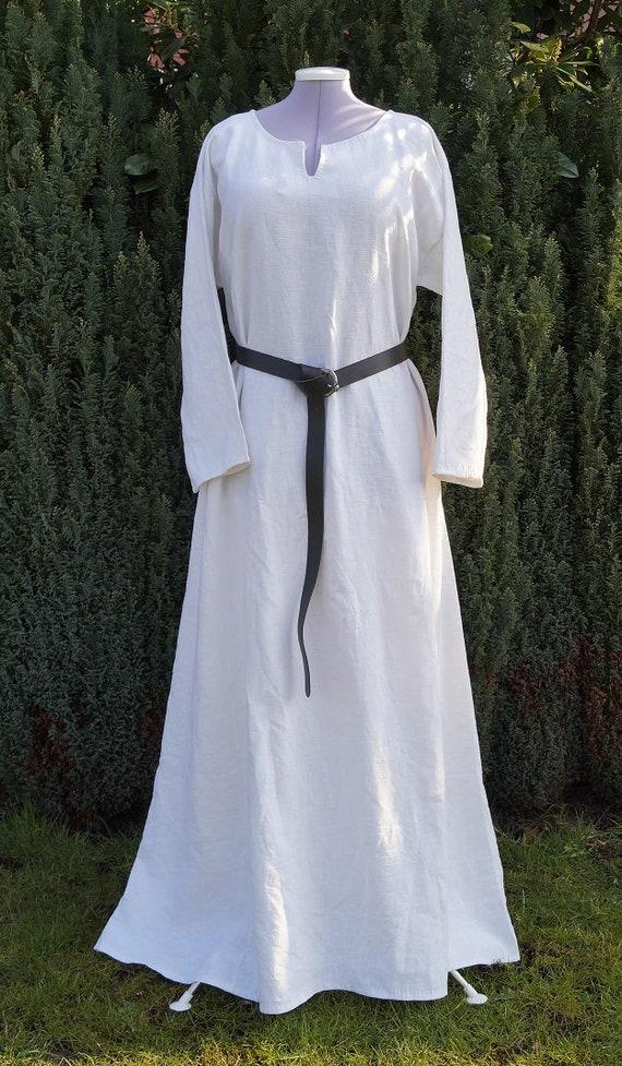 Viking dress hedeby medieval germanic celtic reenactment linnen LARP ecru  beige