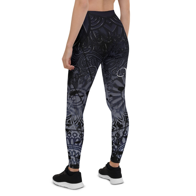 exercise rave pants SR HOT /& WILD ~ Slate yoga pants gym clothes festival outfit sports clothes burning man spandex tights