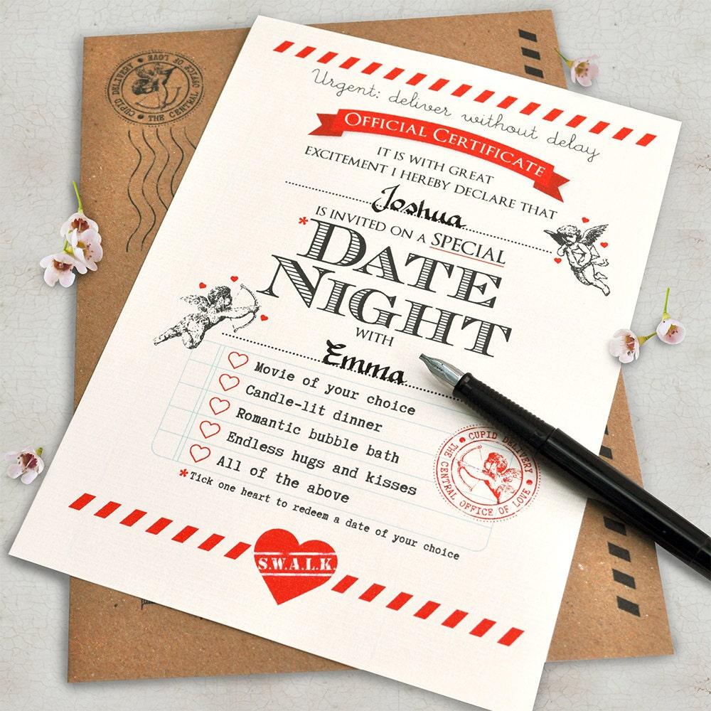 Boyfriend Gift Boyfriend Birthday Card Date Night Ideas