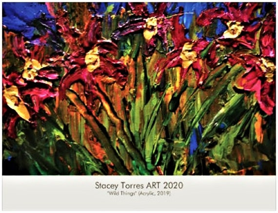 2020 Art Calendar, by Hoosier Artist Stacey Torres, 13 Images (including cover), Signed, Compact Wall Calendar, Original Paintings