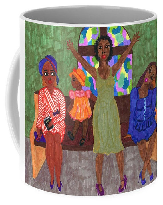 Ceramic Mug, from my original 2014 painting, PRAISE & WORSHIP 1