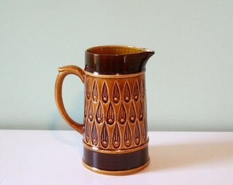 Brown vintage ceramic pitcher- Mint condition