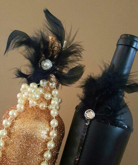 Wedding Centerpiece Set Great Gatsby Black Gold And