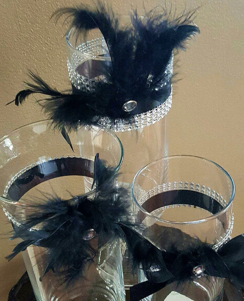 Wedding Centerpiece Reception Table Vase Set Great Gatsby Etsy