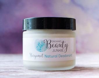 Deodorant, Natural deodorant,  Organic Deodorant, Mother's Day Gift,  Deodorant Cream, Aluminum Free Deodorant,  Bergamot Deodorant