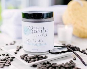 Sugar Scrub - Body Scrub - Organic Fair Trade Coffee Sugar Scrub - Organic Sugar Coffee Scrub - Coffee Sugar Body Scrub - Coffee Body Scrub