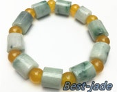 10PCS Certificated Jade Grade A Natural Jadeite Hand carved Jade Round bead bangle Bracelet Chain Burma stone Armband string rope