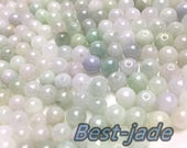 100PCS (Wholesale) 3mm 13mm Grade A Chinese ICY Jade Jadeite Flat RoundNESS Beads Ball GREEN WHITE Gray