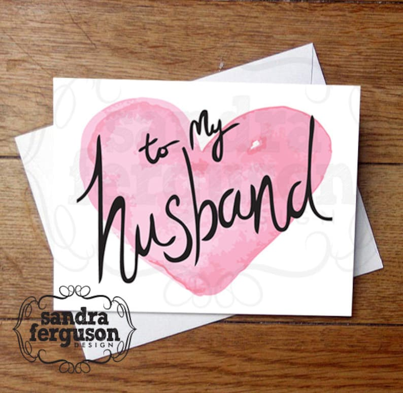 5x7 printable to my husband card love  etsy