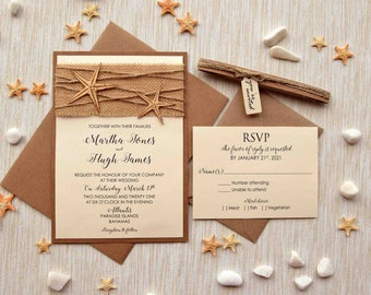 Unique destination wedding invitations Etsy
