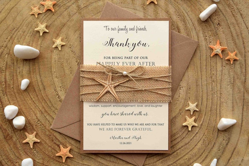 Simple Folded Thank You Card Folded Thank You Cards Modern Thank You #094 Wedding Thank You Card Personalised Thank You Cards