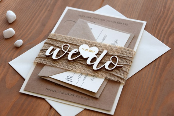 rustic wedding invitations personalized wooden wedding  etsy