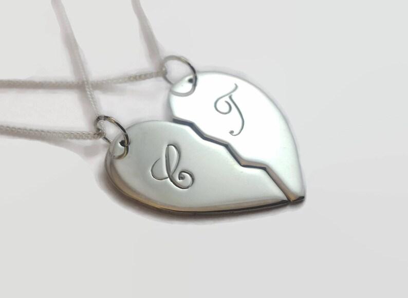 Couples Split Heart Necklace Set  Couple necklace set in image 0