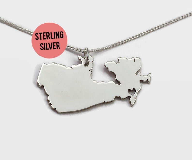 Sterling Silver Canada Necklace image 0