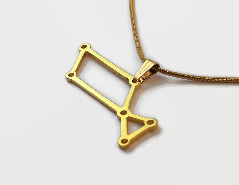24 Carat Gold Plated Lyra Necklace  Constellation Pendant image 0