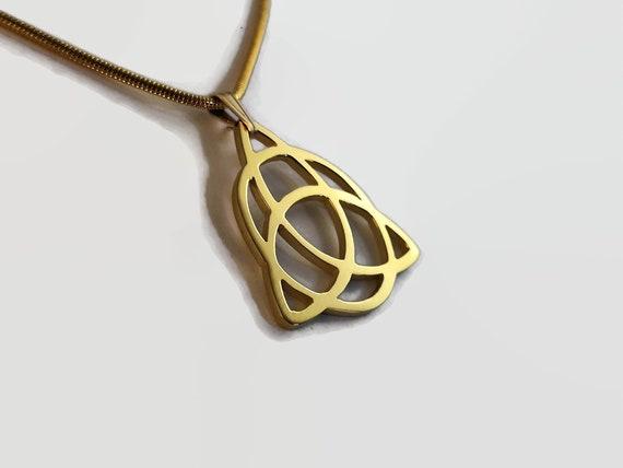 Handmade Celtic Triquetra Pendant 24 Carat Gold Plated Trefoil Knot Necklace Celtic Knot Jewellery