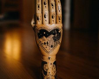 "Wooden Hand ""Love Wood"""