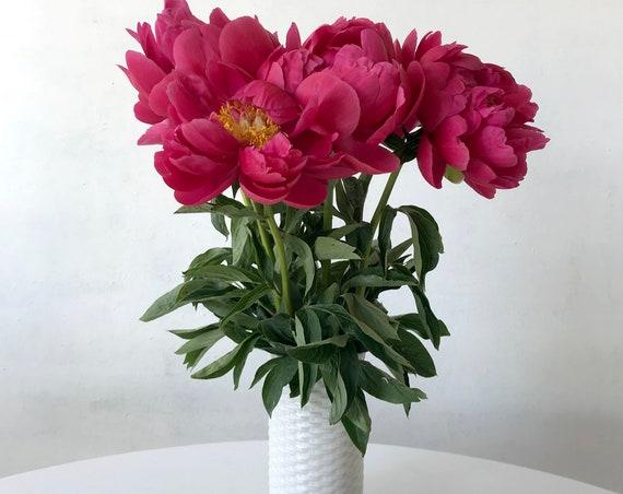 Patterned White Vase