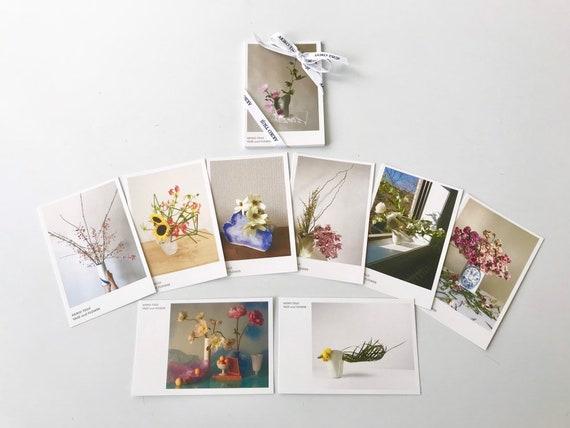 Vase and Flower Postcards Set