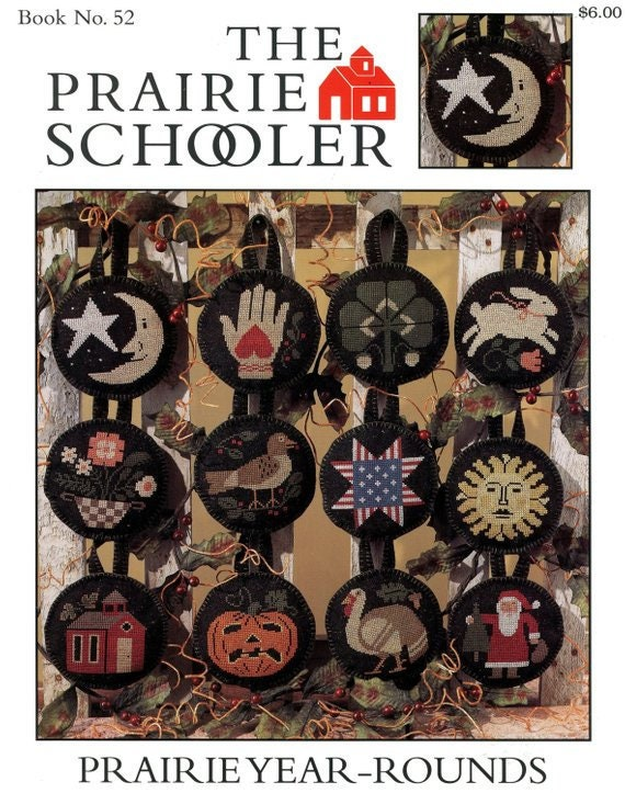 92 01-1299 Original Card Stock Leaflet Welcome Home Prairie Schooler Counted Cross Stitch Chart Book No OUT OF PRINT