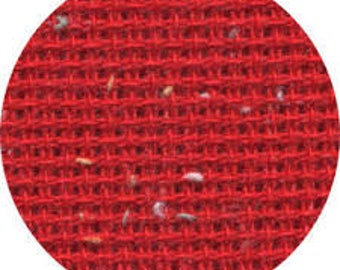 10ct Christmas Red Heatherfield Fabric Fat Quarter 10-count Christmas Red Heatherfield Fabric 942430