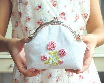 Embroidery Purse Etsy