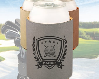 Engraved Golf can cooler, Personalized Golf gift / Laser engraved