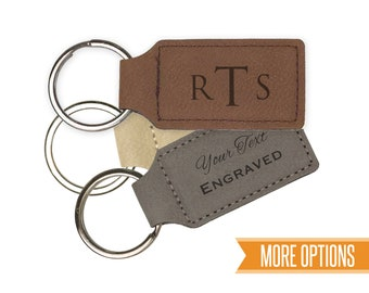 Personalized leather Keychain, Leather keychain engraved, Engraved keychain/Laser engraved