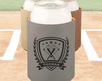 Personalized Baseball can cooler, Engraved Baseball gift, Baseball team gift / Laser engraved