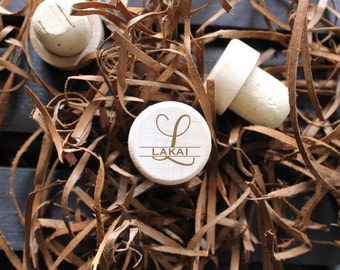 Engraved wine corks, Personalized wine stopper/ Engraved, cork wine stopper, wedding favor, wedding gift, engraved gift personalized