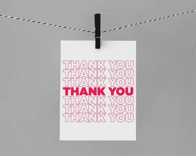 To go thank you card | Envely Cards