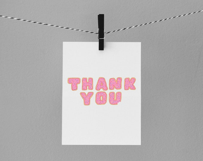 Donut thank you card| Envely Cards