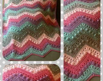Sugar and Spice Crocheted  Blanket