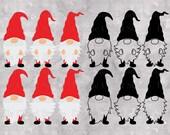 Gnome SVG, Gnomes Bundle, Cute Garden Gnome SVG, Gnome SVG Files for Silhouette Cameo Cricut. Home Decor Svg, Nordic Gnome, Gnome Clipart