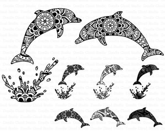 dolphin svg etsy