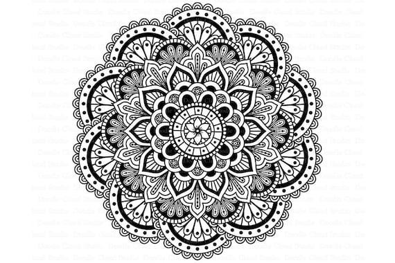 Mandala Svg Dxf Mandala Drawing Mandala Svg Files For Etsy