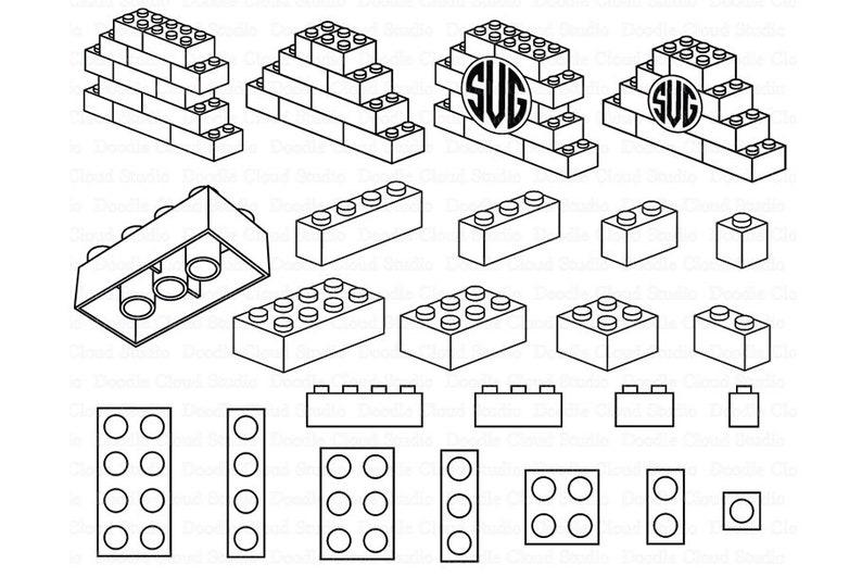 Download Lego SVG Building Blocks SVG Lego Bricks svg Lego Monogram ...