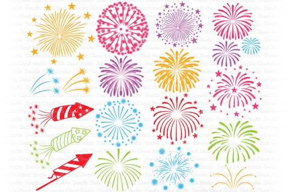 Fireworks Svg Fireworks Svg Files For Silhouette And Cricut Fireworks Clipart 4th Of July Svg Fireworks Png Firecracker Svg Png By Doodle Cloud Studio Catch My Party