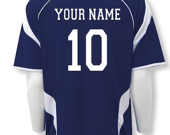 Soccer Jersey Personalized with Your Name and Number on Back 94b9a623f