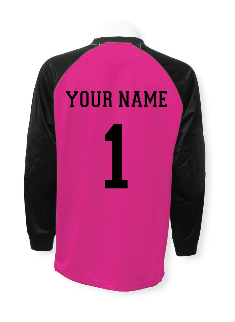 c88ab7cf90f Soccer goalkeeper jersey personalized with your name and