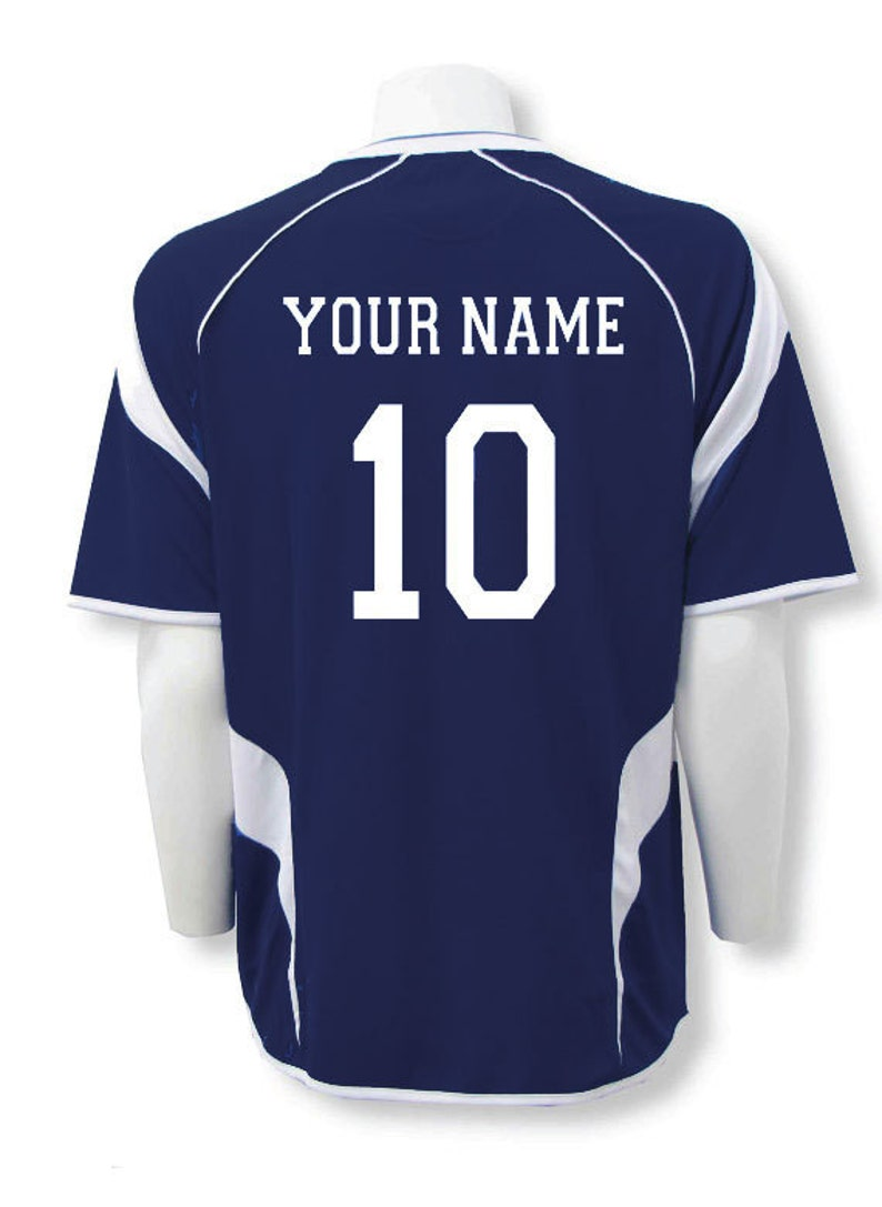 30dd4d37d Soccer Jersey Personalized with Your Name and Number on Back