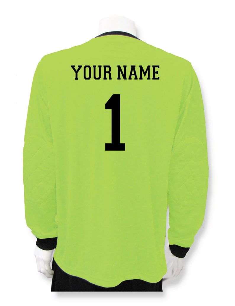 54c7ed13c1a Soccer Goalie Jersey customized with your name and number on