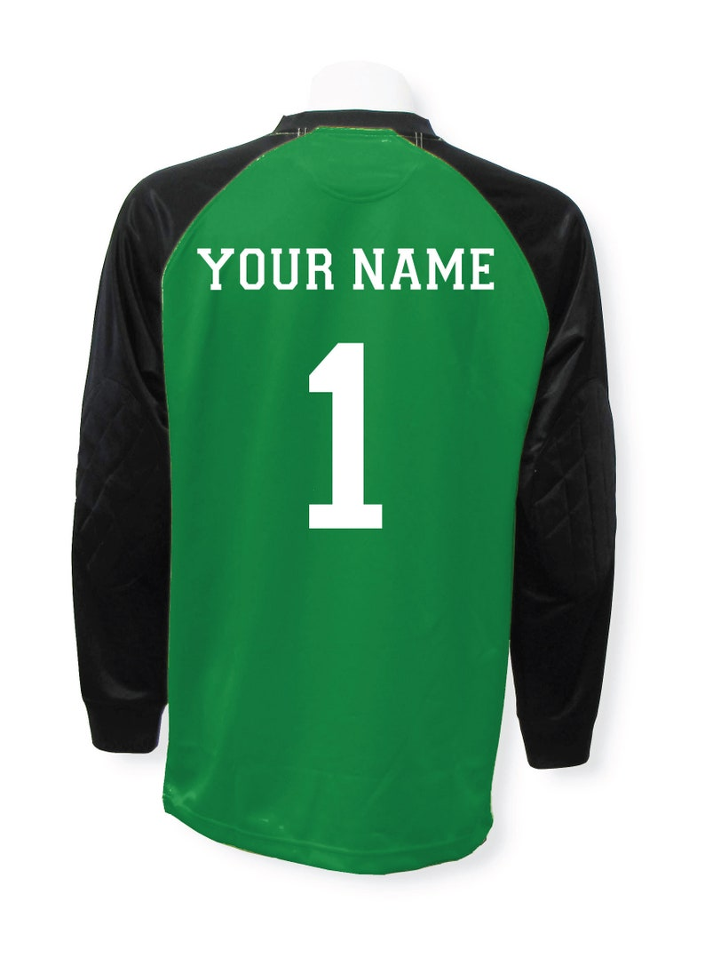 30b7071d4f9 Soccer goalkeeper jersey personalized with your name and