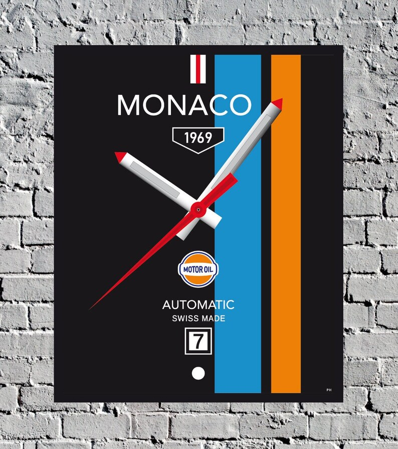 Monaco Watch Steve McQueen print poster decoration image 0