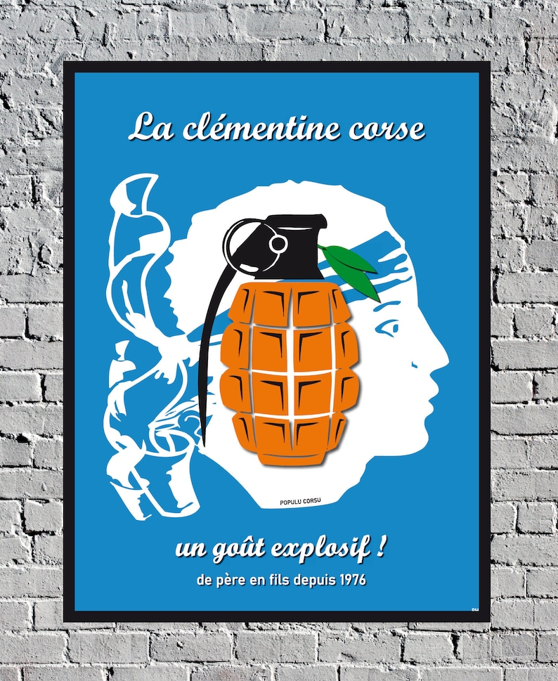 Corse France FLNC Bastia Ajaccio Vintage Travel Poster image 0