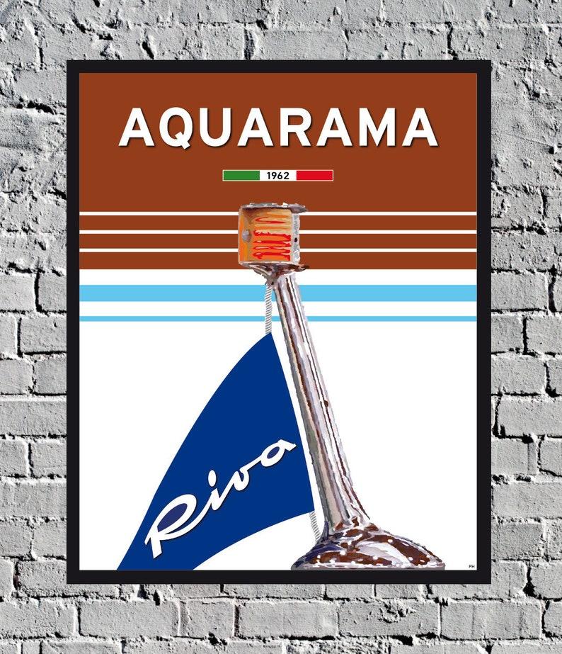 Riva Aquarama Poster Decoration Vintage Wooden Boat image 0