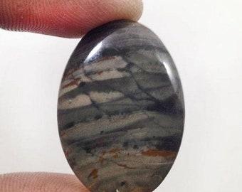 90% SALE Willow Creek Jasper Cabochon 33.5Ct. (30x21x6 mm) Oval Shape Natural Gemstone  NS19263