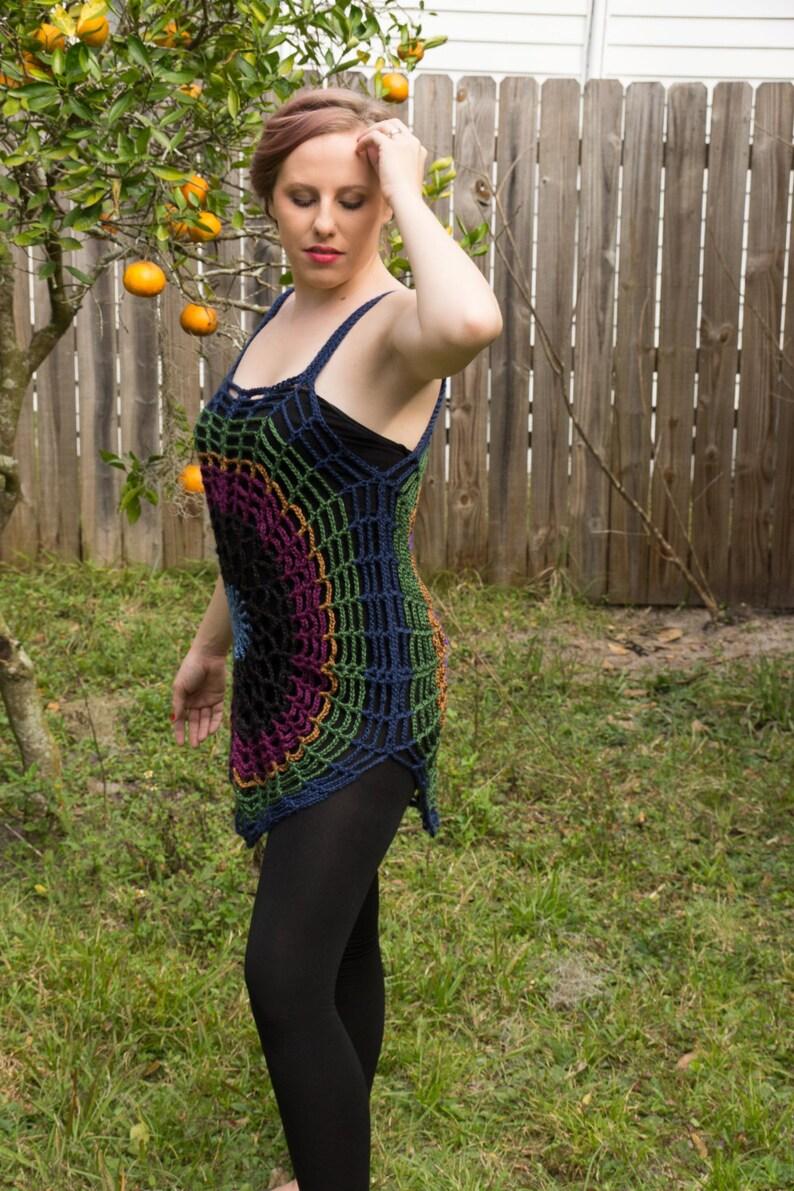 Reversible Mandala Tunic  cover up
